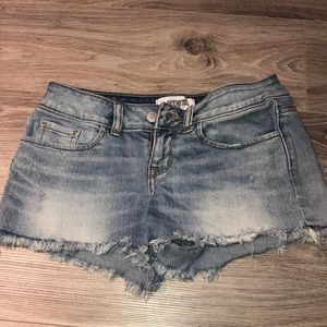 Victoria's Secret light wash blue denim shorts